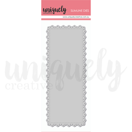 Uniquely Creative - Slim Line Dies - Slim Doily Rectangle Die