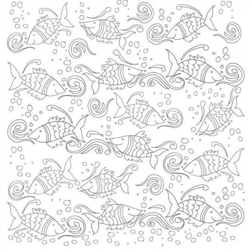 Craft Co - Pavlova Colour Me - 12x12 Paper Fish Frolics
