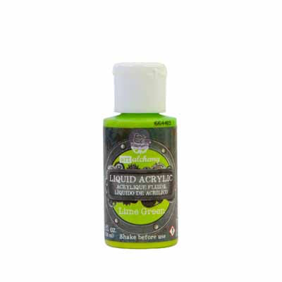 Prima Marketing - Finnabair Art Alchemy - Liquid Acrylics - Lime Green