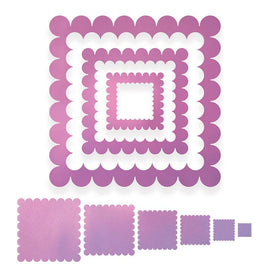 Couture Creations - Intricutz Dies - Scallop Squares