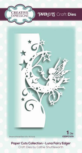 Creative Expressions Dies by Cathie Shuttleworth - Paper Cuts Collection - Luna Fairy Edger