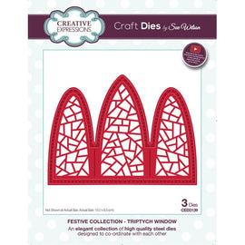 Creative Expressions Dies by Sue Wilson - Festive Collection - Triptych Window