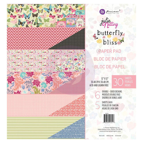 Prima Marketing - Julie Nutting  - Butterfly Bliss 12x12 Paper Pad
