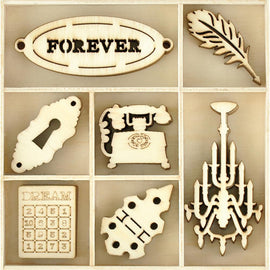 Kaisercraft Wooden Flourish Pack - Trinkets