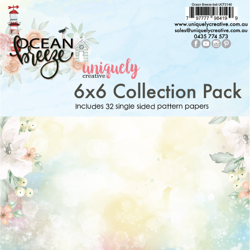 Uniquely Creative - Ocean Breeze - 6x6 Collection Pack