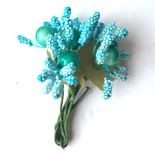 Artfull Stamens - Large with Berries - Light Blue