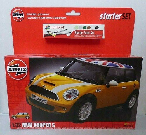 Airfix - Large Starter Set - Mini Cooper S 1:32 (Skill Level 1)