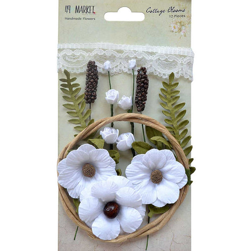 49 and Market - Flowers - Cottage Blooms - Cotton
