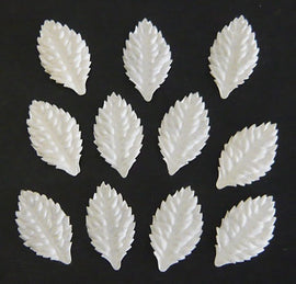 Mulberry Paper Leaves - White 30mm (25pk)