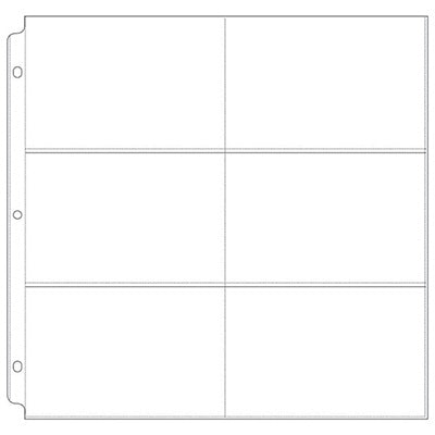 "We R Memory Keepers - 12x12 3-Ring Page Protectors - Six 4""x6"" Photo Sleeves (10pk)"