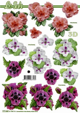 Le Suh 3D Decoupage - Mixed Flowers (777.444)