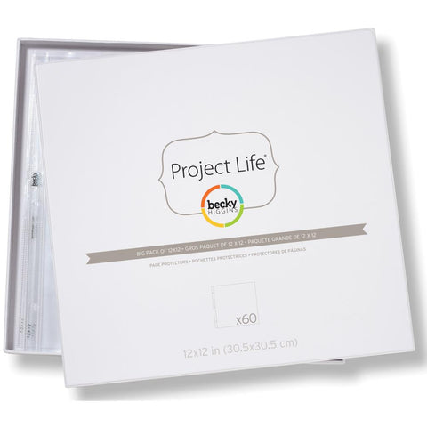 Project Life - 12x12 Page Protectors  (Big Pack 60 Pages)