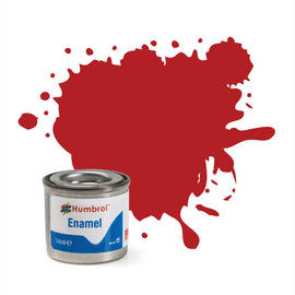 Humbrol - 14ml Enamel Paint - Matte Insignia Red