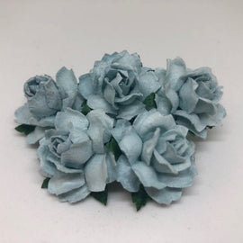 Cottage Roses - Antique Blue