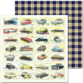 Craft Co - Pavlova Heritage - 12x12 Paper Classic Cars