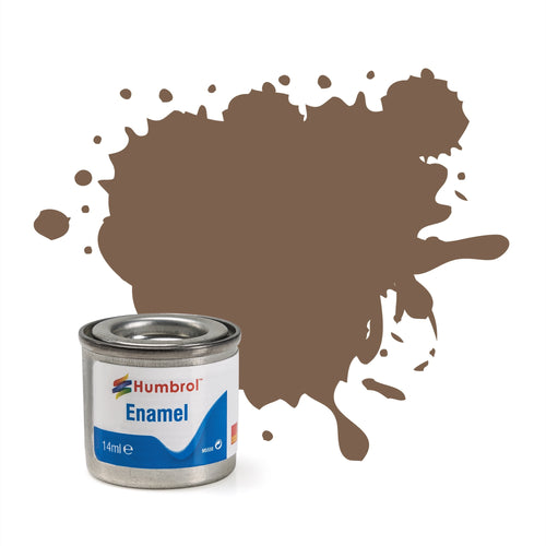 Humbrol - 14ml Enamel Paint - Matte Dark Earth