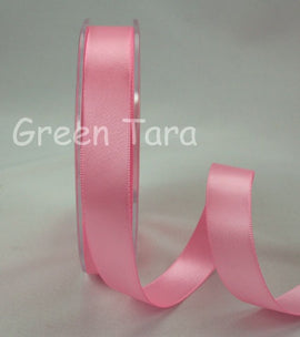 Green Tara Double-Sided Satin Ribbon - 6mm - Pink