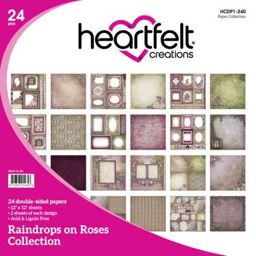 Heartfelt Creations - Raindrops on Roses - 12x12 Paper Pad