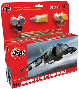 Airfix - Medium Starter Set - Hawker Siddeley Harrier GR.1 1:72 (Skill Level 2)
