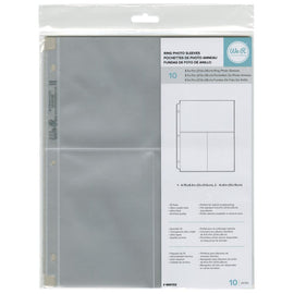 "We R Memory Keepers - 8.5x11 inch 3-Ring-Page Protectors - (1) 4.75""x8.5"" (2) 4""x6"" Photo Sleeves (10 pk)"