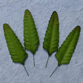 Mulberry Paper Fern Leaves - Green (25pk)