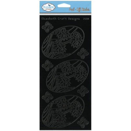 Elizabeth Craft Outline Stickers - Daisy Ovals - Black
