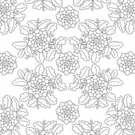 Craft Co - Pavlova Colour Me - 12x12 Paper Floral