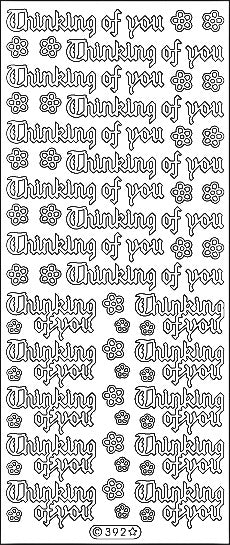 PeelCraft Stickers - Thinking of you Gothic - Black (PC392BK)