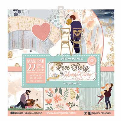 **Pre-Order** Stamperia - Love Story - 12x12 Paper Pack - 22 Sheets (Single Sided)