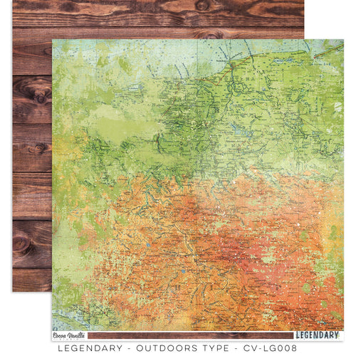 "Cocoa Vanilla - Legendary - 12x12 Pattern Paper ""Outdoors Type"""