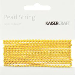 Kaisercraft - Pearl String - Gold