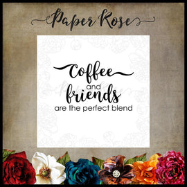 Paper Rose - Coffee & Friends Stamp