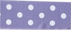 Berisfords Essentials Ribbon - Polka Dot Lilac