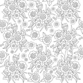 Craft Co - Pavlova Colour Me - 12x12 Paper Embroidery