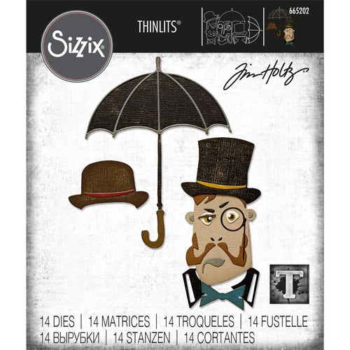 Sizzix - Tim Holtz Thinlits - The Gent (665202)