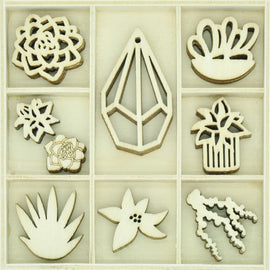 Kaisercraft - Wooden Flourish Pack - Succulents