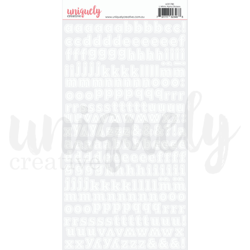 Uniquely Creative - Alphabet Stickers - White Lower Case