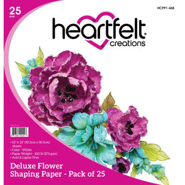 Heartfelt Creations - Deluxe Flower Shaping Paper - 25 Pack