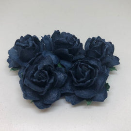 Cottage Roses - Navy