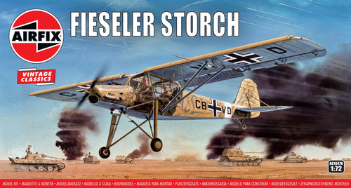 Airfix - Model Kit - Fieseler Storch Vintage 1:72 (Skill Level 2)