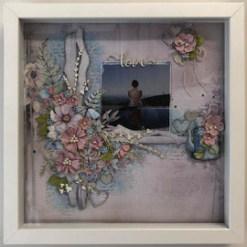 "Embellish It - 12x12"" Shadow Box Frame - White"