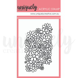 "Uniquely Creative - Roots & Wings - Mini Acrylic Stamp ""Posey """