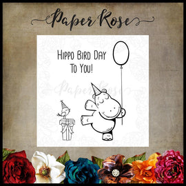 Paper Rose - Hippo Bird Day Stamp