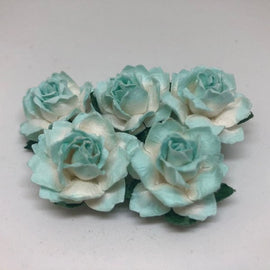 Cottage Roses - 2 Tone Lt Turquoise