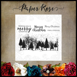 Paper Rose - Winter Trees Clear Stamp Set