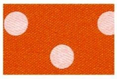 Berisfords Essentials Ribbon - Polka Dot Orange