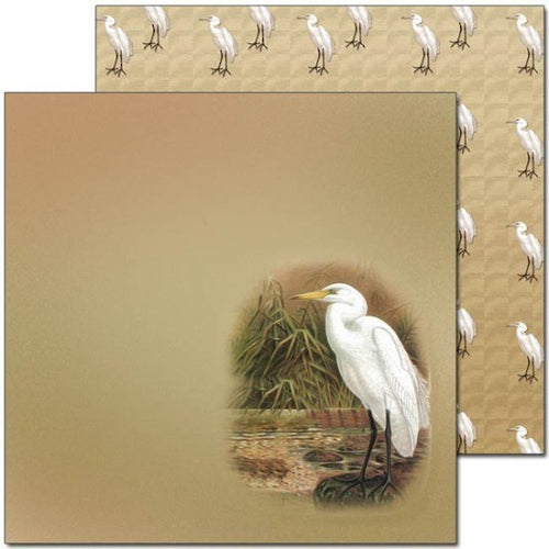Craft Co - Pavlova NZ Birds - 12x12 Paper Kotuku (PV12002)