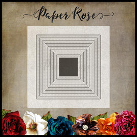 Paper Rose - Stitched Squares Die Set