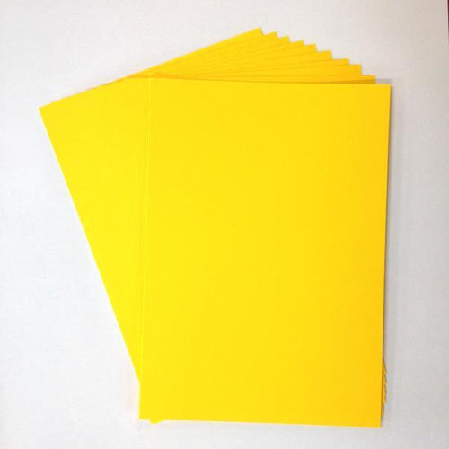 Artfull Cardstock - A5 Card Pack - Bright Yellow (10 sheets)