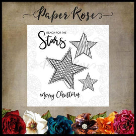 "Paper Rose - Scribble Stars 4x4"" Clear Stamp Set"